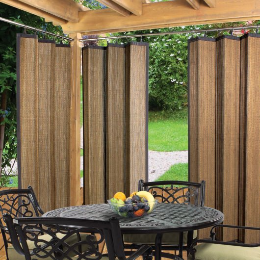 Shop Espresso Bamboo Outdoor Curtain 40 X 84 Drapes