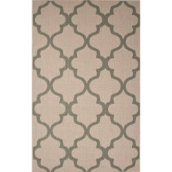 Jaipur Breeze Birch Taupe and Sage Stamp Outdoor Rug