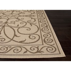 Jaipur Breeze Birch Taupe and Tan Iron Work Outdoor Rug