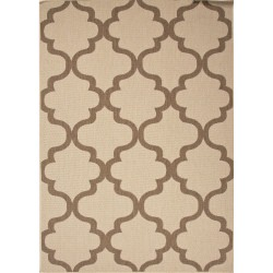 Jaipur Breeze Birch Taupe and Tan Stamp Outdoor Rug