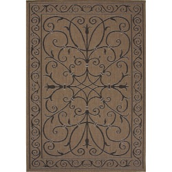 Jaipur Breeze Lark Taupe and Tan Iron Work Outdoor Rug