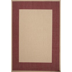 Jaipur Breeze Birch Taupe and Jester Red Picnic Outdoor Rug