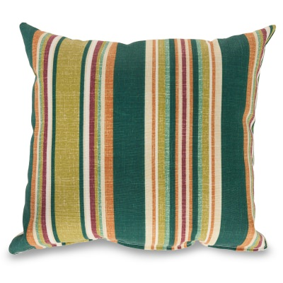 Baldwin Stripe Outdoor Throw Pillow 16 in. x 16 in. Square