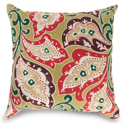 Zinnia Sari Outdoor Throw Pillow 16 in. x 16 in. Square