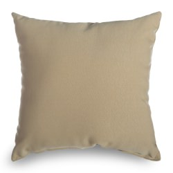 Antique Beige Sunbrella Square Outdoor Throw Pillow (16