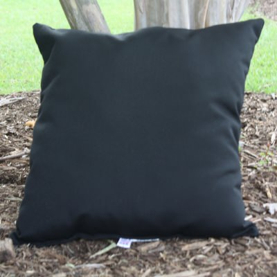 Black Sunbrella Outdoor Throw Pillow 19 in. x 19 in. Square