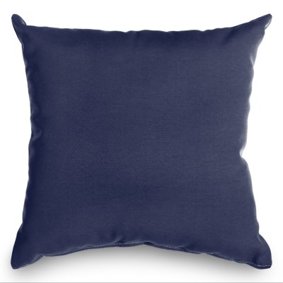 Sunbrella Navy Indoor/Outdoor Throw Pillow 18 in. x 18 in.