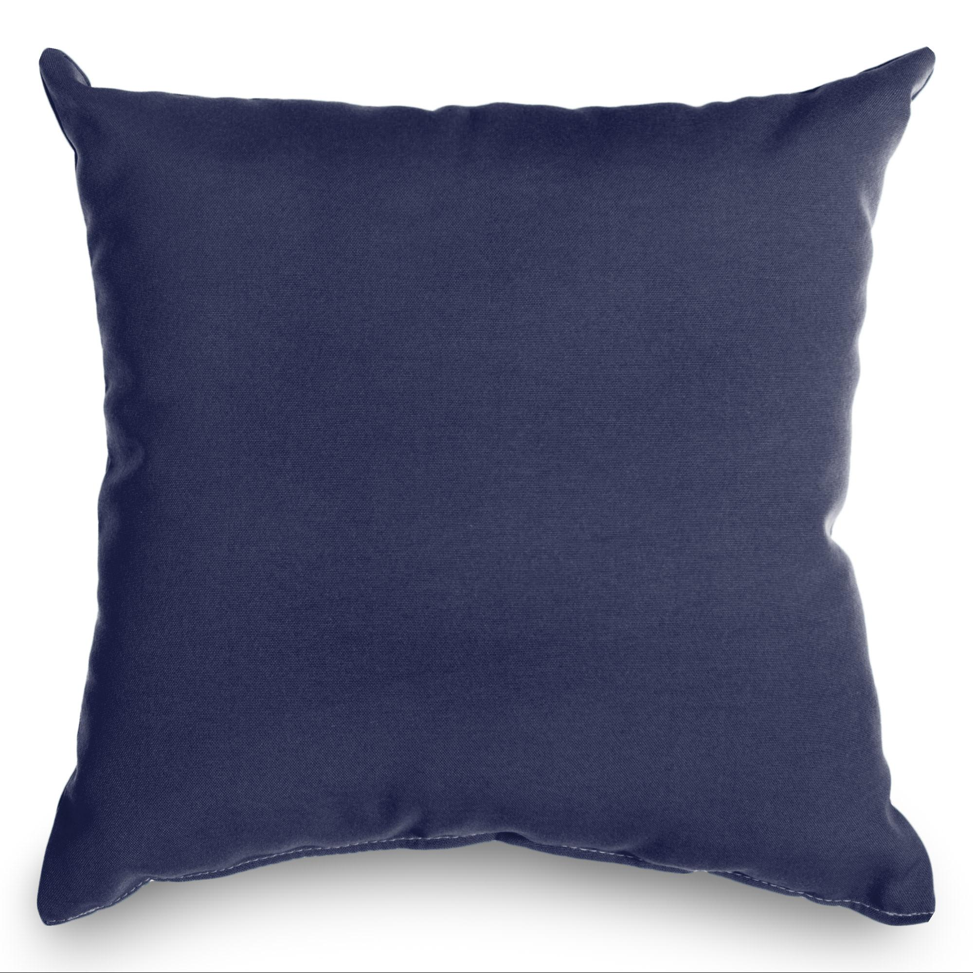 Decorative Pillows Navy : Navy Sunbrella Outdoor Throw Pillow DFOHome