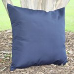 Navy Sunbrella Outdoor Throw Pillow 19 in. x 19 in. Square