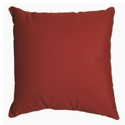 Burgundy Sunbrella Outdoor Throw Pillow 18 in. x 18 in. Square