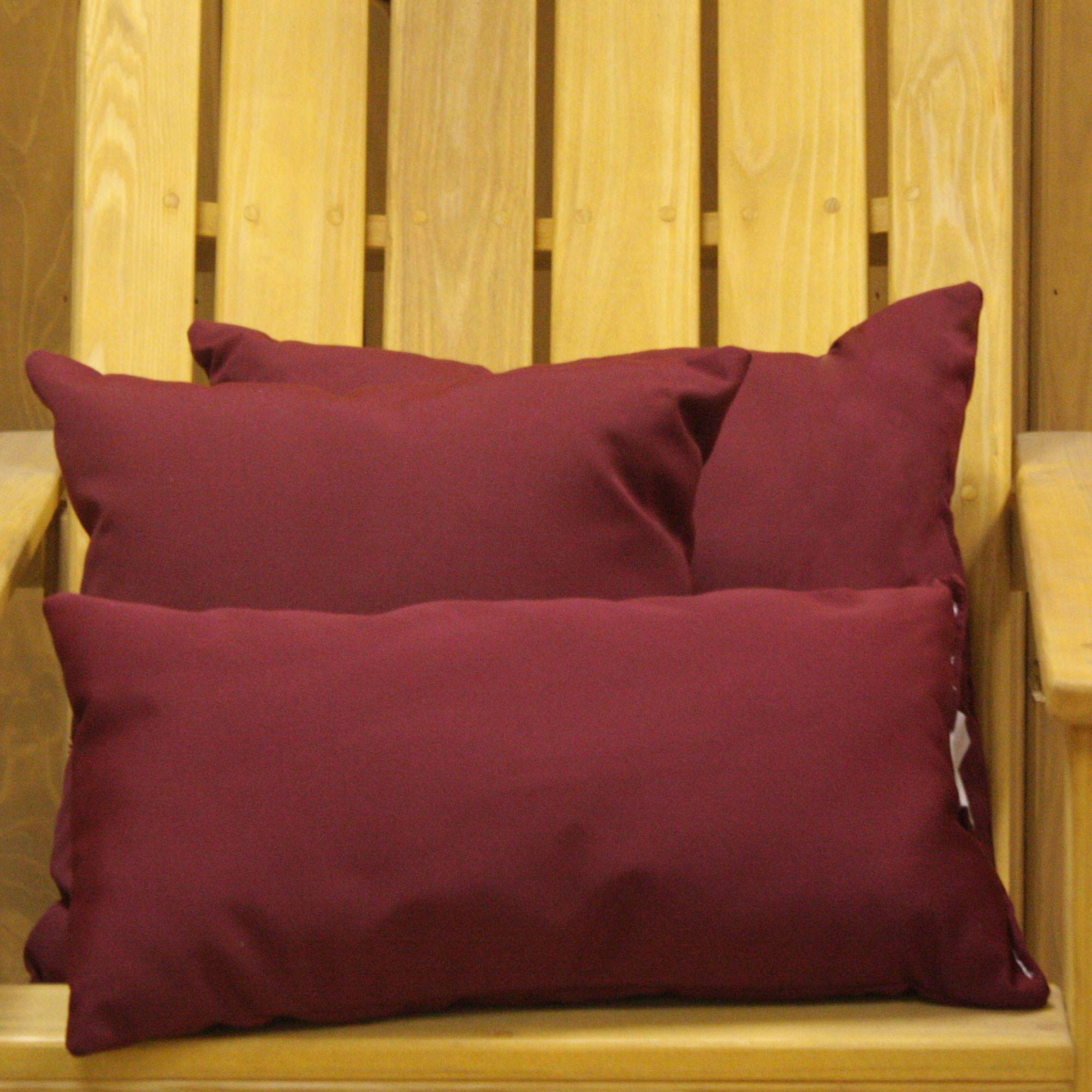 Burgundy Sunbrella Outdoor Throw Pillow ...