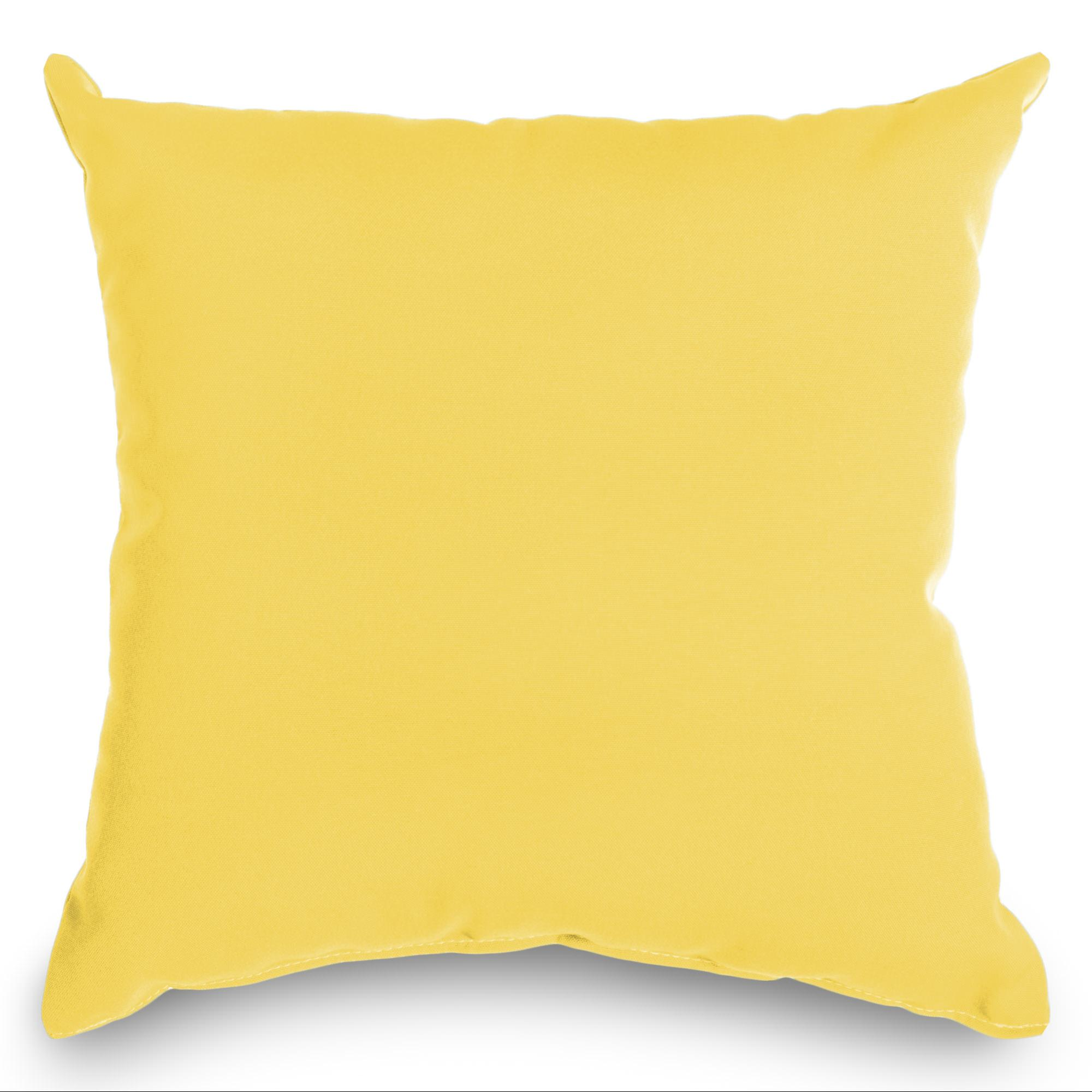 Canary Yellow Weathersmart Outdoor Throw Pillow (16