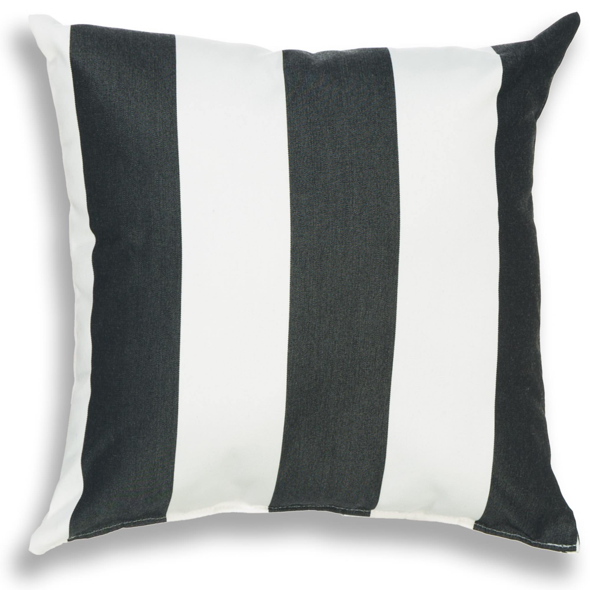 Cabana Black Outdoor Pillow 18 x 18 on Sale