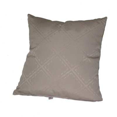 Taupe Outdoor Throw Pillow 19 in. x 19 in. Square