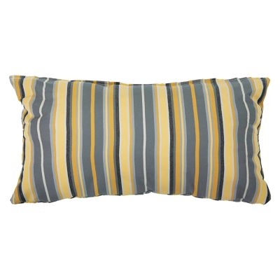Foster Metallic Sunbrella Outdoor Throw Pillow 19 in. x 10 in. Rectangle/Lumbar