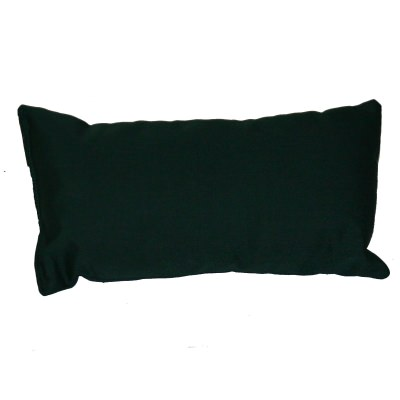 Forest Green Sunbrella Outdoor Throw Pillow 19 on. x 10 in. Rectangle/Lumbar