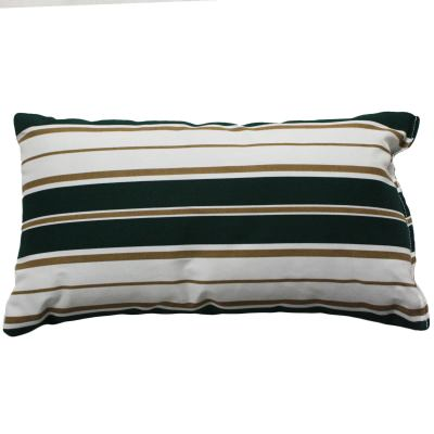 Green and White Stripe Outdoor Throw Pillow 19 in. x 10 in. Rectangle/Lumbar