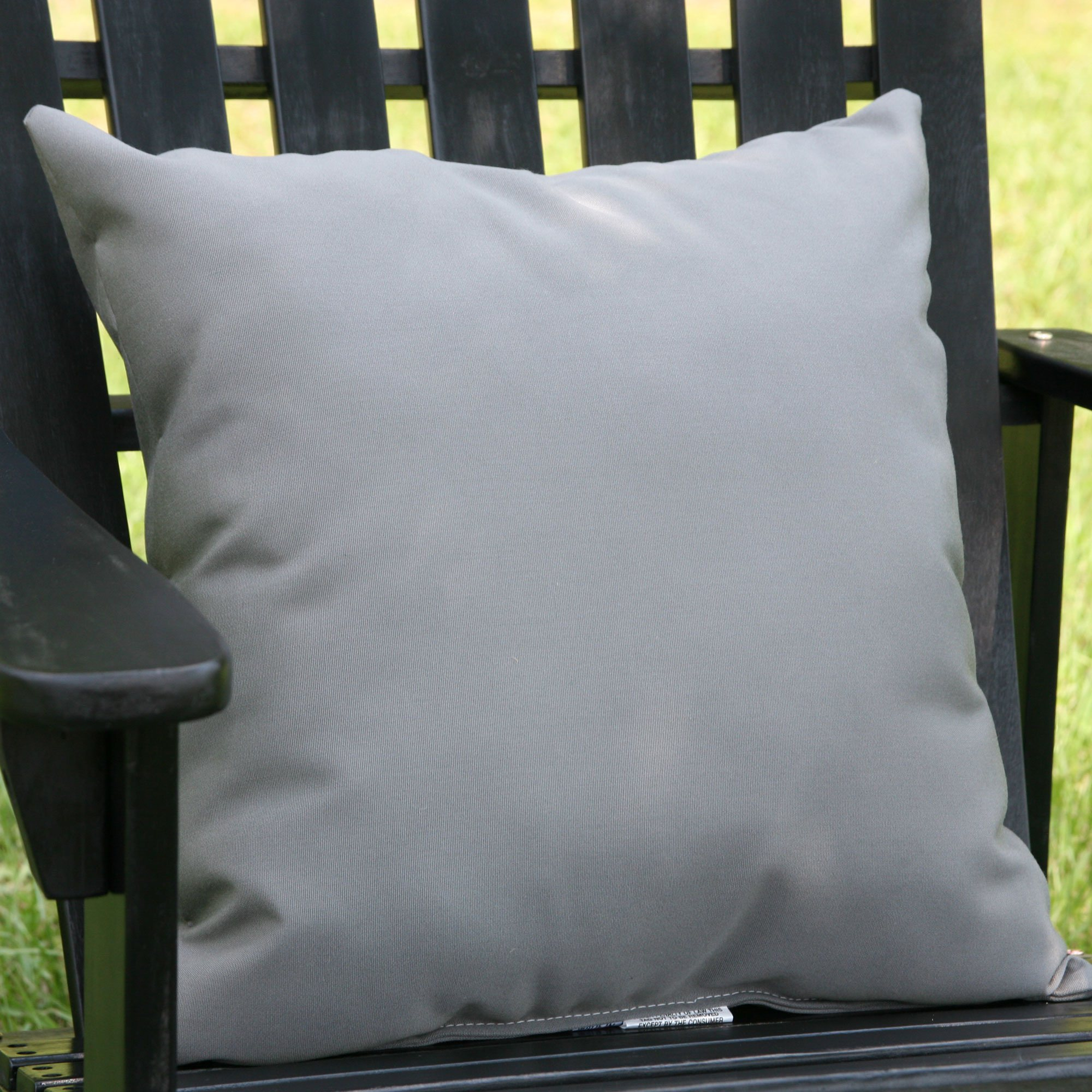 charcoal grey sunbrella outdoor throw pillow dfohome