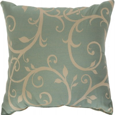 Cabaret Blue Haze Sunbrella Outdoor Throw Pillow