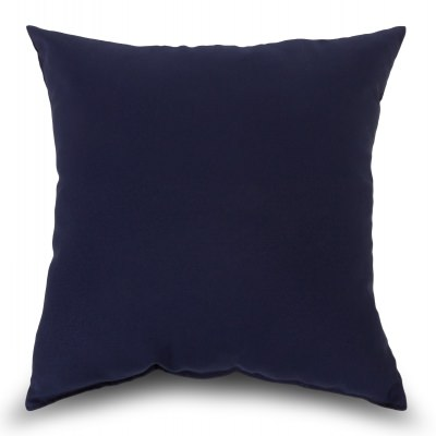 Navy Outdoor Throw Pillow 16 in. x 16 in. Square