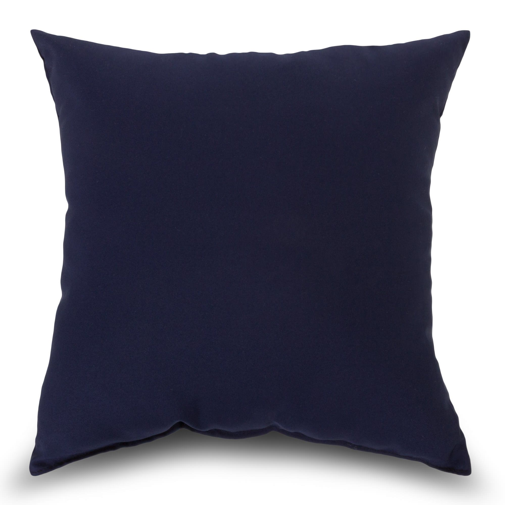 Decorative Pillows Navy : Navy Outdoor Throw Pillow BSQINV-K DFOHome