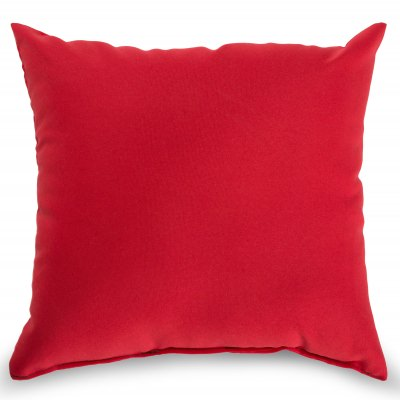 Red Outdoor Throw Pillow 16 in. x 16 in. Square