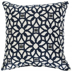 Sunbrella Throw Pillow Luxe Indigo - 24 in. x 24 in.