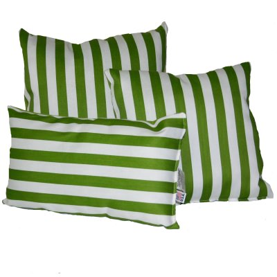 Macaw Green Stripe Outdoor Throw Pillow - 19 in. X 19 in. Square