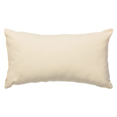 Oatmeal Sunbrella Outdoor Throw Pillow 19 in. x 10 in. Rectangle/Lumbar