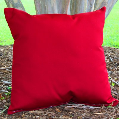 Red Sunbrella Outdoor Throw Pillow (16 in. x 16 in.)