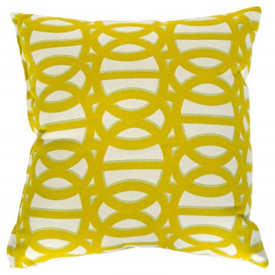 Reflex II Citron Sunbrella Outdoor Throw Pillow