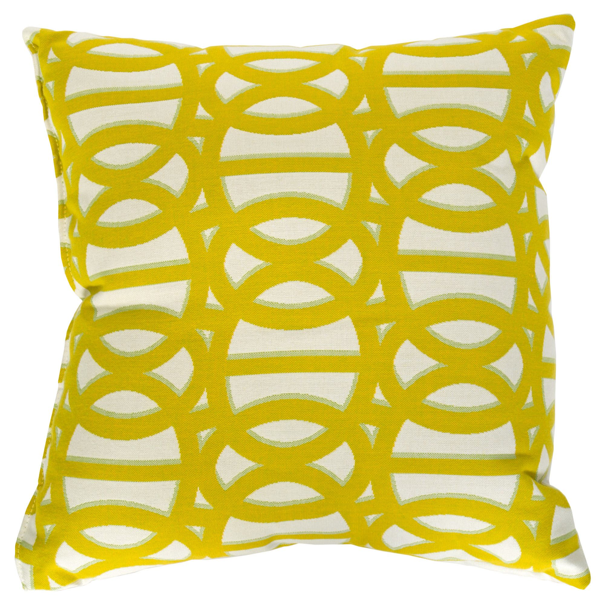 Beau Reflex II Citron Sunbrella Outdoor Throw Pillow