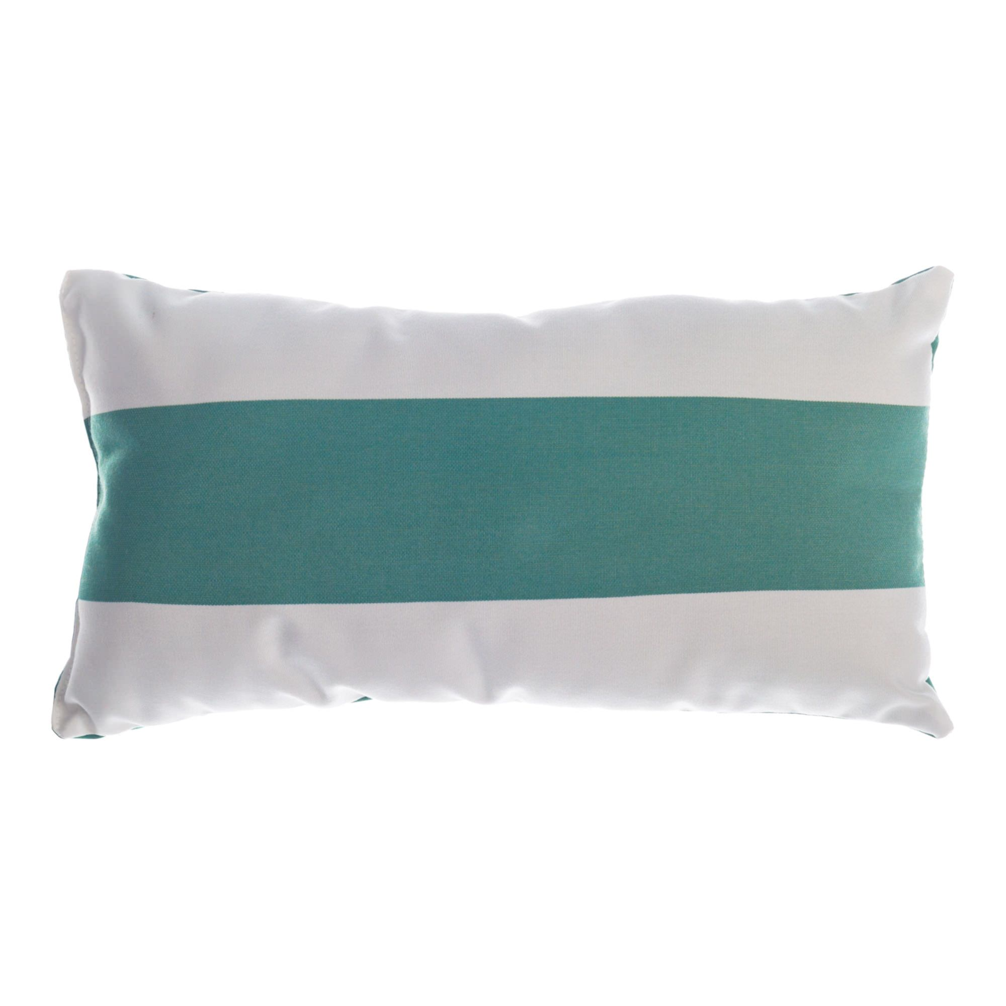 Sunbrella Throw Pillows Clearance : Shop Resort Stripe Jade Sunbrella Outdoor Throw Pillow - Essentials by DFO; Pillows; Outdoors ...
