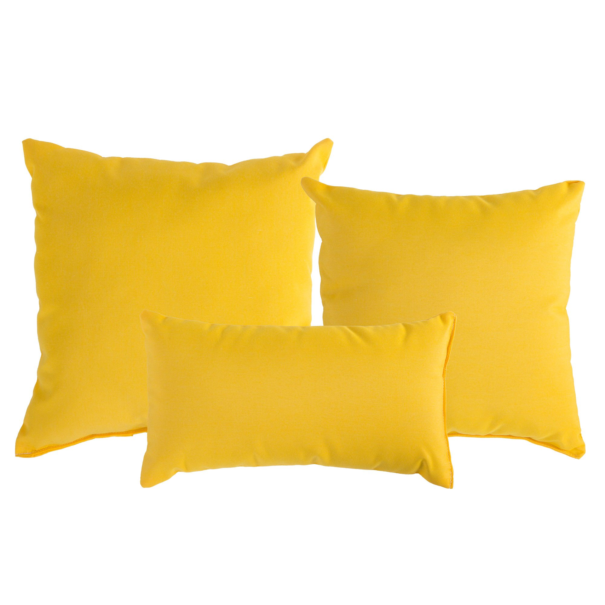 Throw Pillow Yellow : Sunflower Yellow Sunbrella Outdoor Throw Pillow DFOHome