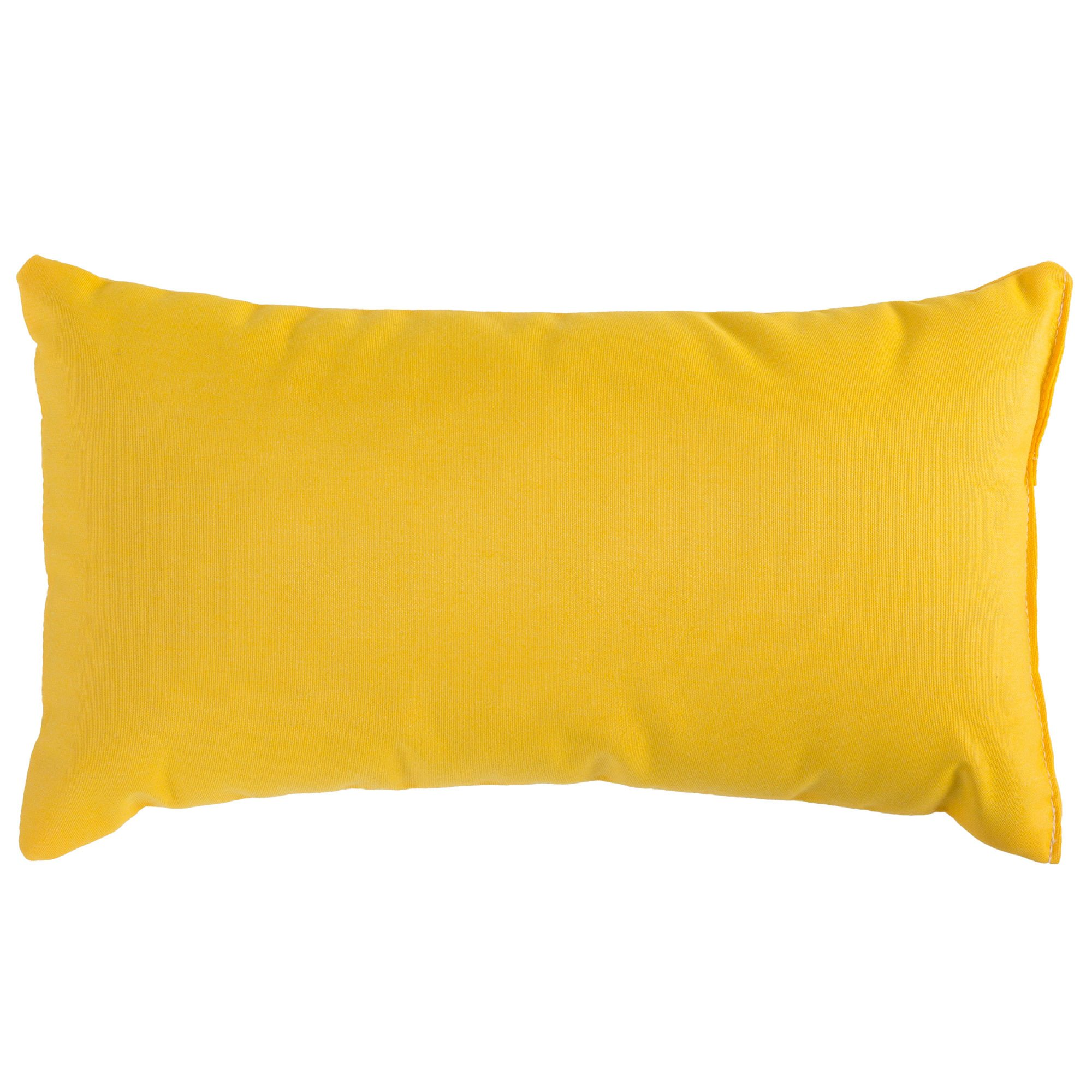 How To Make A Small Decorative Pillow : Sunflower Yellow Sunbrella Outdoor Throw Pillow DFOHome