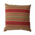 Sweetwater Stripe Scarlet Outdoor Throw Pillow