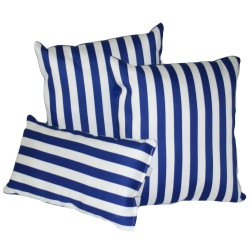 True Blue Stripe Outdoor Throw Pillow