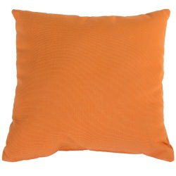 Tangerine Sunbrella Outdoor Throw Pillow