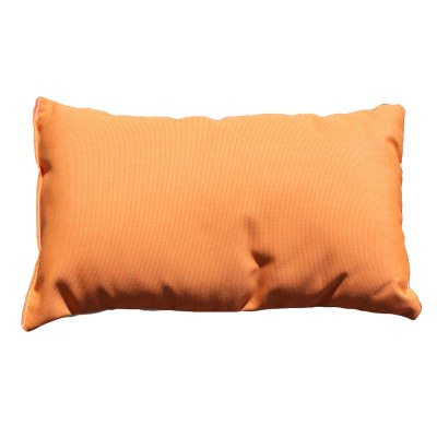 Tangerine Sunbrella Outdoor Throw Pillow with Cream Back