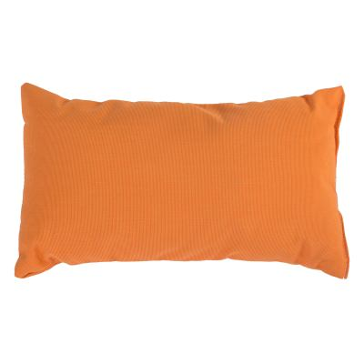 Tangerine Sunbrella Outdoor Throw Pillow (19 in. x 10 in.)