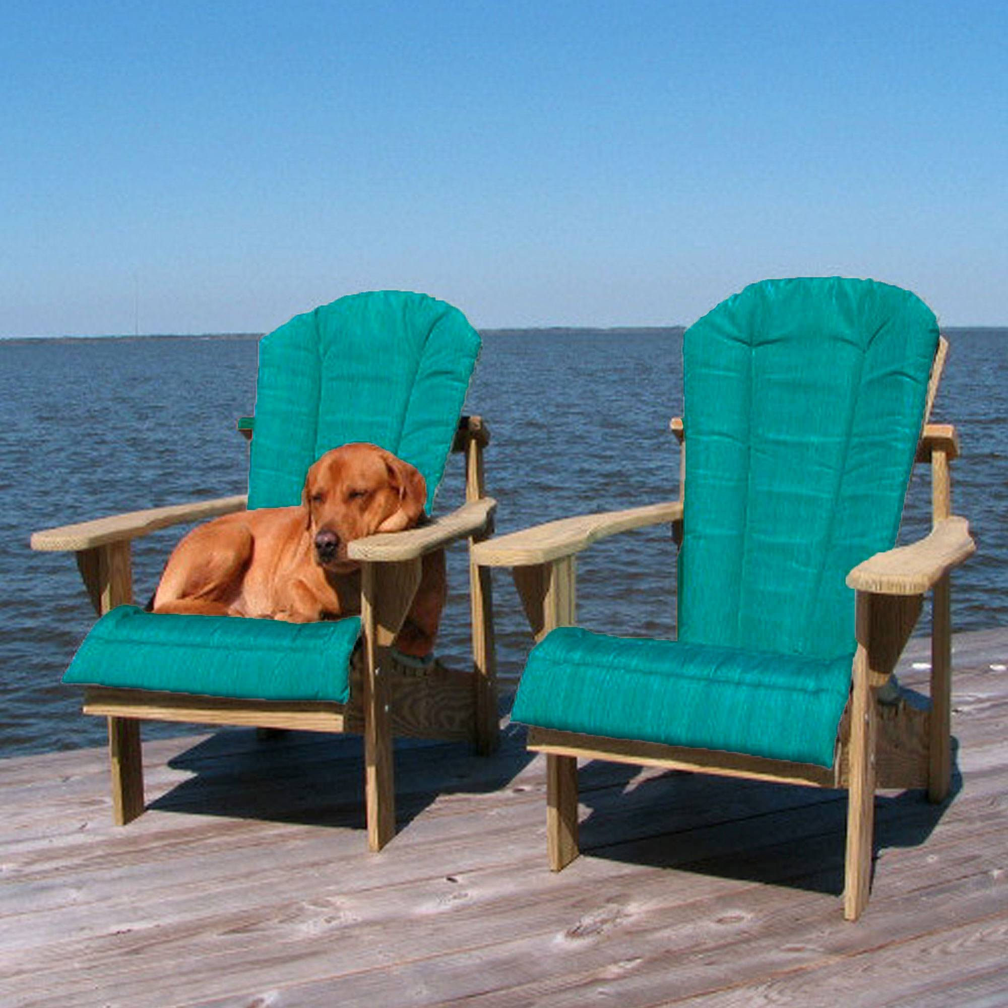 Shop Teal Adirondack Chair Cushion Weathercraft