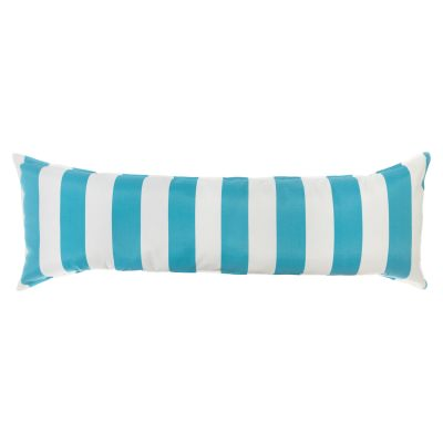 52 Inch Long Hammock Pillow with Polyester Filling - Cabana Turquoise