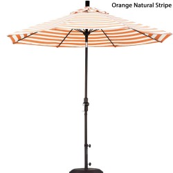 9ft. Striped Fiberglass Market Umbrella with Tilt