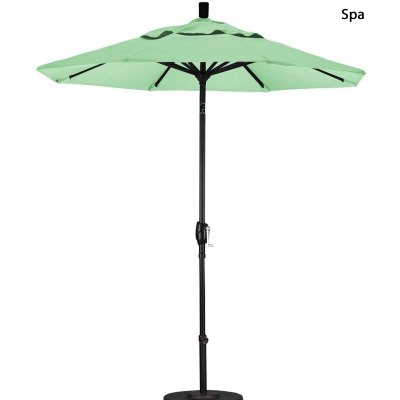 7.5ft. Wide Market Umbrella Push Tilt in 8 Colors-4 Year Fade Resistant
