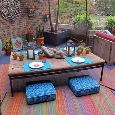 Cancun Multicolor Outdoor Mat