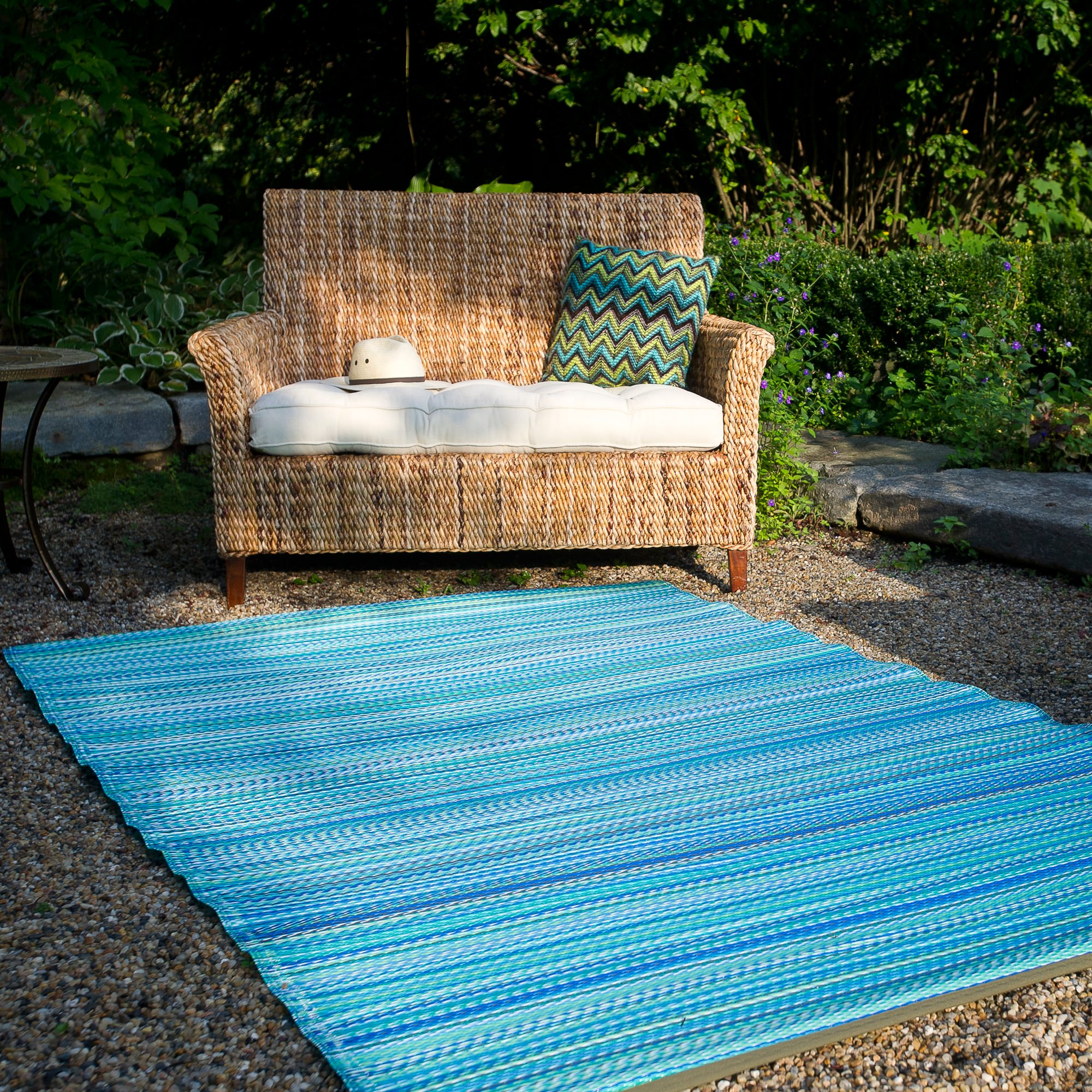 cancun turquoise moss green outdoor mat fab habitat. Black Bedroom Furniture Sets. Home Design Ideas