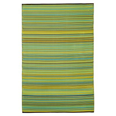 Cancun Lemon and Apple Green Outdoor Mat