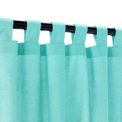 Sunbrella Canvas Aruba Outdoor Curtain with Tabs