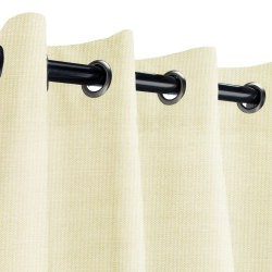 Sunbrella Canvas Birds Eye Outdoor Curtain with Grommets