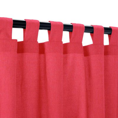 Sunbrella Canvas Blush Outdoor Curtain with Tabs
